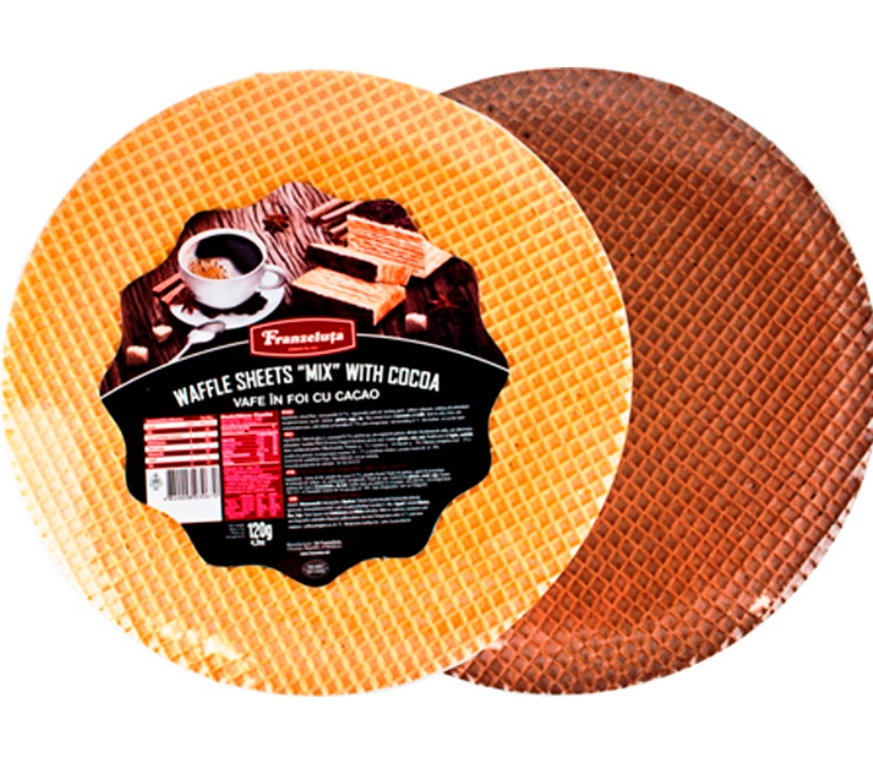 bakery  round waffle sheet with cacao 120g  store near